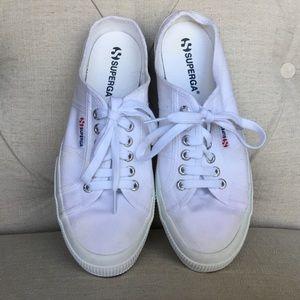 Superga Sneaker Mules - White - Size 41